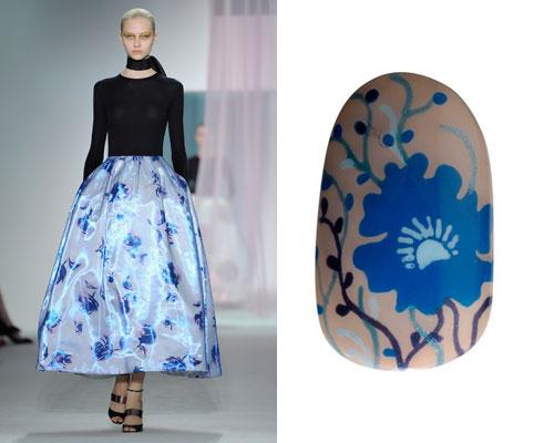 Loja Britânicas Criam Unhas Decoradas Inspirado Em Roupa Da Dior